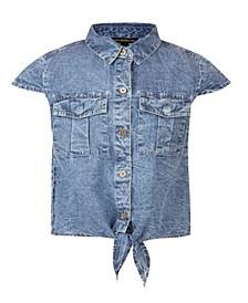 Big Girls Knotted Denim Shirt