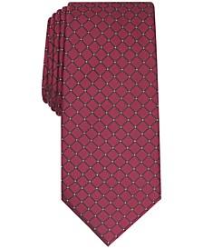 Men's Malone Grid Slim Tie, Created for Macy's