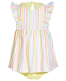 Baby Girls Summer Stripe Cotton Sunsuit, Created for Macy's