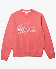 Men's Embroidered Crocodile Cotton Fleece Sweatshirt