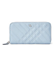 Continental Quilted Plaid Leather Wallet