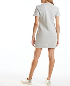 Short Sleeve Tee Fleece Dress