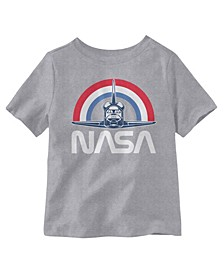 NASA Flying Short Sleeve Little Boys T-shirt