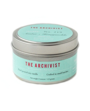 Archivist Amber and Honeysuckle Soy Candle
