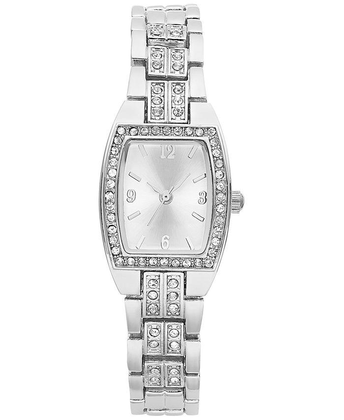 Charter Club - Women's Silver-Tone Crystal Bracelet 28mm