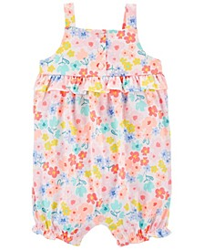 Baby Girls Floral Cotton Romper