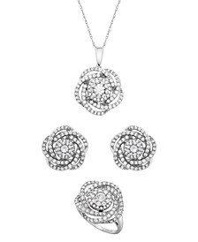 Diamond Love Knot Jewelry Collection in 14k White Gold, Created for Macy's
