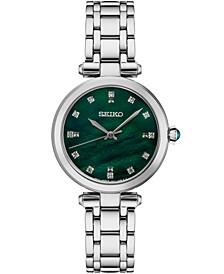 Women's Diamond (1/8 ct. t.w.) Stainless Steel Bracelet Watch 30mm