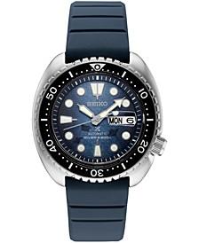 Men's Automatic Prospex Diver Dark Blue Silicone Strap Watch 45mm