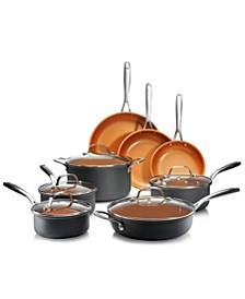 Professional Series Hard Anodized Aluminum Ultra-Nonstick Ti-Ceramic Coating 13-Pc. Cookware Set