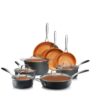 Gotham Steel Professional Series Hard Anodized Aluminum Ultra-Nonstick Ti-Ceramic Coating 13-Pc. Cookware Set