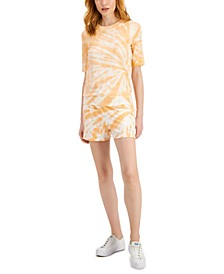Tie-Dyed Short-Sleeve Sweatshirt & Shorts, Created for Macy's
