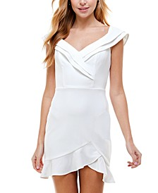 Juniors' Ruffled Dress
