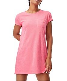 Women's Terry Towelling T-Shirt Dress
