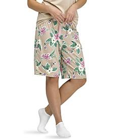 Floral-Print Bermuda Pajama Shorts