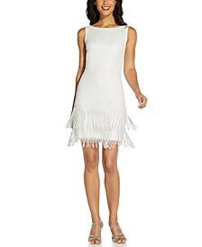 Beaded Fringe Short Dress