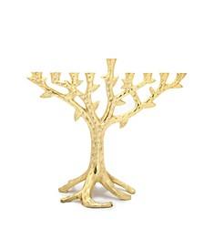 "11.5""L Gold Branch Menorah"