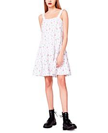 Rosebud Eyelet Fit & Flare Dress