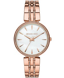 Women's Annabeth Three-Hand Rose Gold-Tone Bracelet Watch 37mm