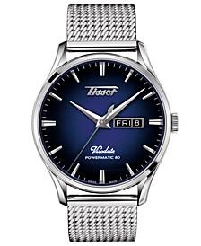 Men's Swiss Automatic Heritage Visodate Powermatic 80 Stainless Steel Mesh Bracelet Watch 42mm
