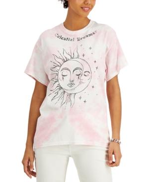 Juniors' Cotton Celestial Dreamer-Graphic T-Shirt