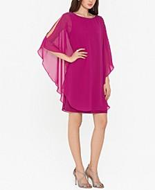 Petite Chiffon Overlay Sheath Dress
