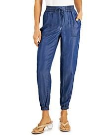 Chambray Pull-On Jogger Pants, Created for Macy's