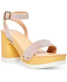Women's Caprise-R Rhinestone Platform Sandals