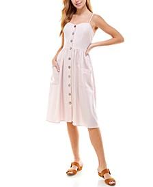Juniors' Sweetheart-Neck Midi Dress