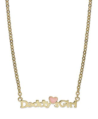 Childrens 18k gold over sterling silver daddys girl pendant childrens 18k gold over sterling silver aloadofball Images