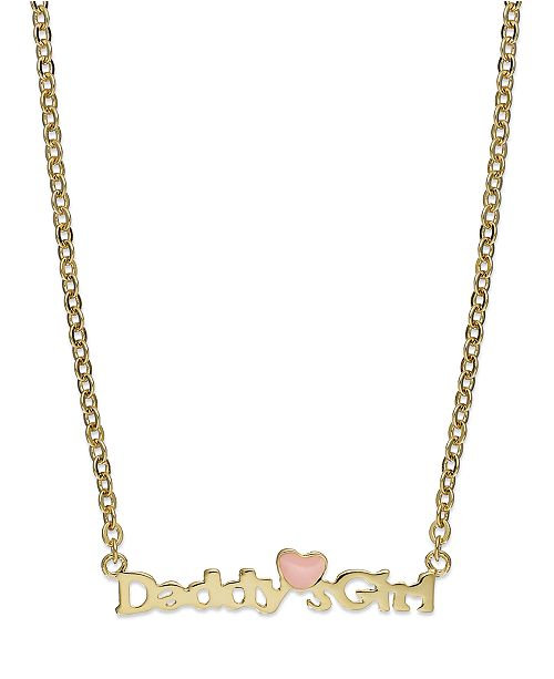 Macys childrens 18k gold over sterling silver daddys girl main image main image aloadofball Images