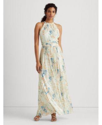 로렌 랄프로렌 Lauren Ralph Lauren Floral Sleeveless Gown,Ivory Floral