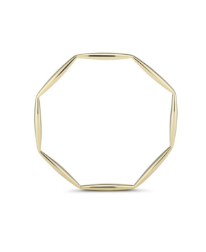 Octagon Geo Bangle in Fine Yellow Gold Plate
