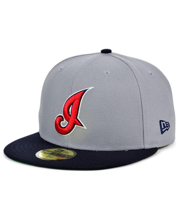 New Era Cleveland Indians Gray Anniversary 59FIFTY Cap & Reviews - MLB - Sports Fan Shop - Macy's