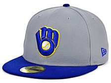 Milwaukee Brewers Gray Anniversary 59FIFTY Cap