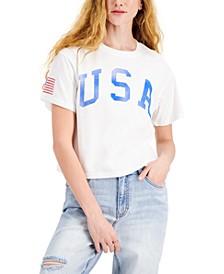 Juniors' Cotton USA Graphic-Print T-Shirt