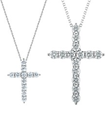 Diamond Cross Pendant Necklace  (2 ct. t.w.) or (3 ct. t.w.) in 14k White Gold