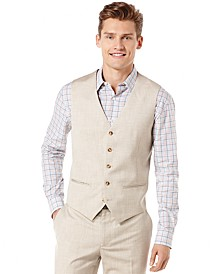 Big and Tall Textured Pinstriped Vest & Pants