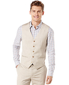 Perry Ellis Big and Tall Textured Pinstriped Vest & Pants