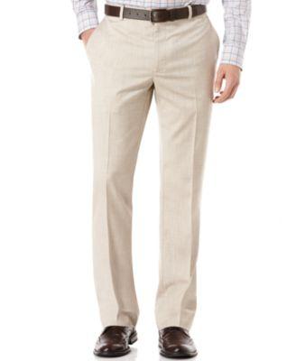 Big and Tall Linen Blend Textured Pants