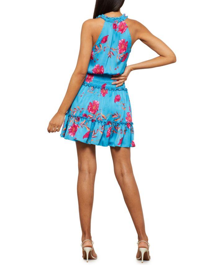 BCBGMAXAZRIA Floral-Print Smock-Waist Dress & Reviews - Dresses - Women - Macy's