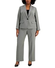 Plus Size One-Button Pantsuit
