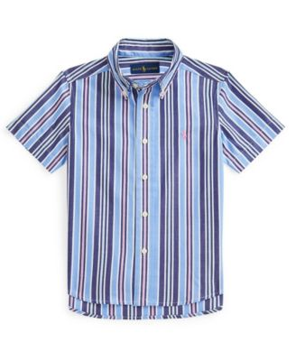 폴로 랄프로렌 Polo Ralph Lauren Little Boys Striped Shirt,Blue, Pink Multi