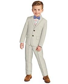 Little Boys Micro Texture Suit, 4-piece Set