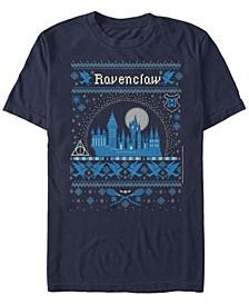 Men's Ravenclaw Sweater Short Sleeve Crew T-shirt