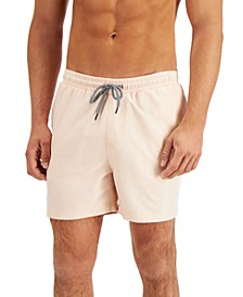 """INC Men's Regular-Fit Quick-Dry Solid 5"""" Swim Trunks, Created for Macy's"""