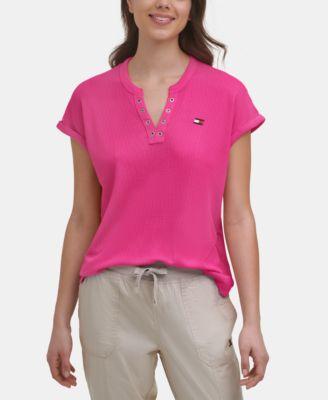 Waffle-Knit T-Shirt