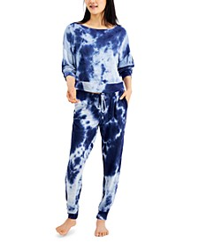 Women's Tie-Dyed Loungewear Set, Created for Macy's