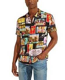 Men's Printed Postcard Shirt