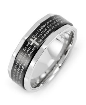 Men's Stainless Steel Lord's Prayer Spinner Ring